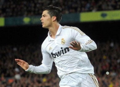 Ronaldo scored during his side's victory over Barcelona last night.