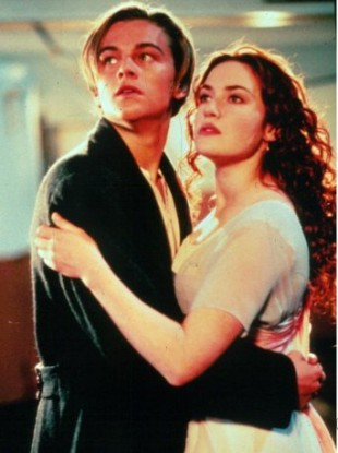 Leo and Kate as Jack and Rose