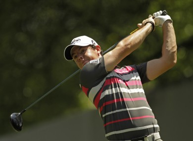 Rory McIlroy at Quail Hollow yesterday.
