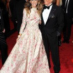 Sarah Jessica Parker with and wearing Valentino.