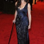 Brooke Shields - we're not sure if the cane was required or if she was channelling her inner Brad Pitt.