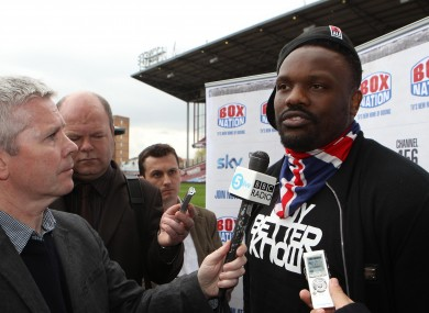 Chisora will fight despite having his license withdrawn by the BBBoC.