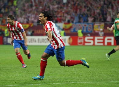 Falcao after scoring the opening goal of the game.