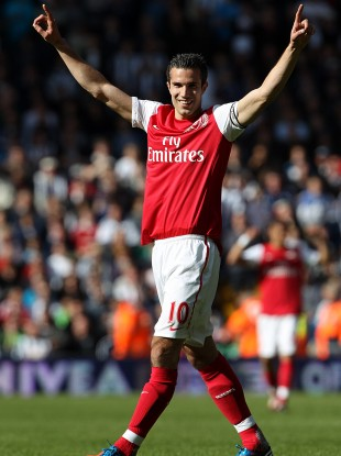 Robin van Persie celebrates what has been an exceptional individual season