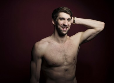 Michael Phelps poses for a portrait at the Olympic Media Summit last weekend.