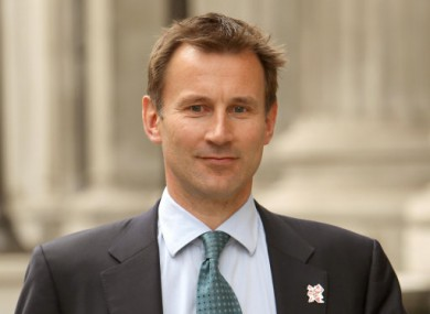 Britain's culture secretary Jeremy Hunt.
