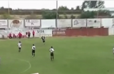 VIDEO: Footballer scores as opposition team celebrates