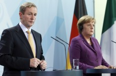 Kenny calls for sharing of bank debts – as Merkel again rules out Eurobonds