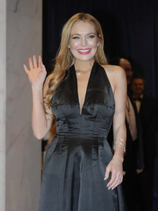 Lohan pictured at the White House Correspondents' Association Dinner in April.