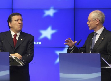 Jose Manuel Barroso and Herman van Rompuy are composing a document which outlines the need for budget co-ordination, as well as other measures to safeguard the euro.