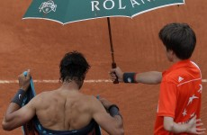 Rain halts French Open final again