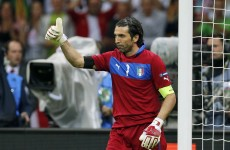 Euro 2012: Buffon not ready to alter prediction