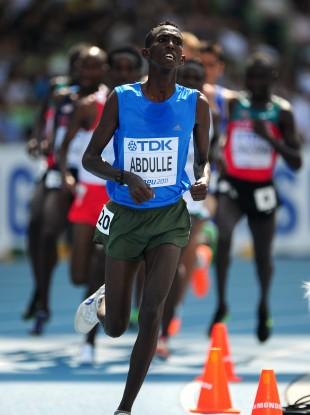 bdishakur Nageye Abdulle competing in the 5,000m in Daegu last year.