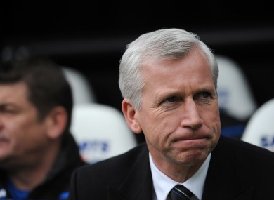 Alan Pardew: nothing to do with negotiations, he says.