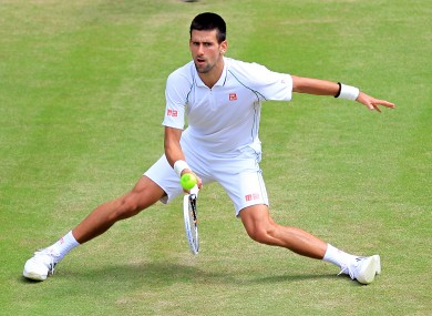 Djokovic against Florian Mayer.
