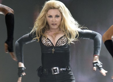 Madonna at a concert last week. No news yet on whether David Brent is suing for copyright infringement.