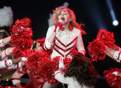 Madge performing in Edinburgh on Saturday