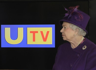 Britain's Queen Elizabeth II visiting the UTV Studios in Belfast