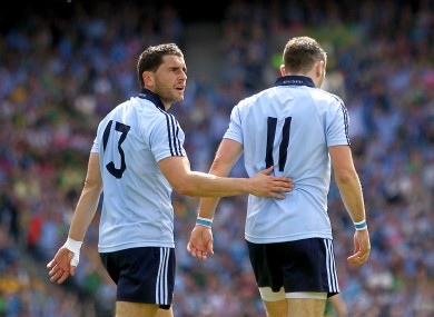Brothers in arms: Bernard Brogan, left, with Alan.