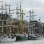 Trevor Buckley captured this lovely photo of the Tall Ships lined up in Dublin.