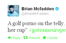 Tweet Sweeper: Brian McFadden likes a smutty joke