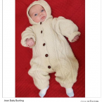 For a fair assessment of this Aran all-in-one, look at the baby's face. (ShamrockGifts.com)
