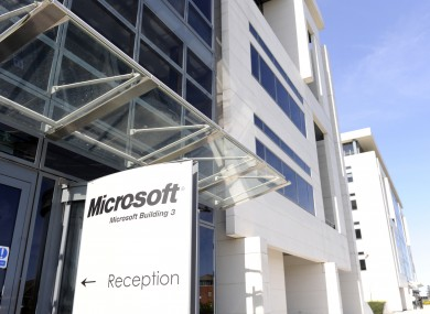 About 1,900 people are employed at Microsoft's Irish base in Sandyford.