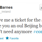 Paddy Barnes is desperate for a ticket for the match.