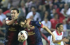 VIDEO: Last-minute Barcelona defeat 10-man Sevilla