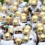 Irish pre-game huddle. ©INPHO/James Crombie