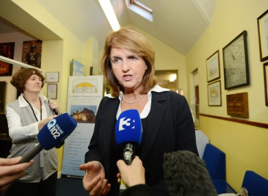 Joan Burton speaking at the Department of Social Protection's Pre-Budget Forum earlier today.