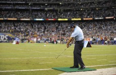 VIDEO: Phil Mickelson had this endzone-to-endzone chip shot to win $1m for charity last night