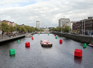 Fergal McCarthy's installation to mark Ireland's property crash at the Absolut Dublin Fringe Festival in September 2010 - just weeks before Ireland entered its EU-IMF bailout.