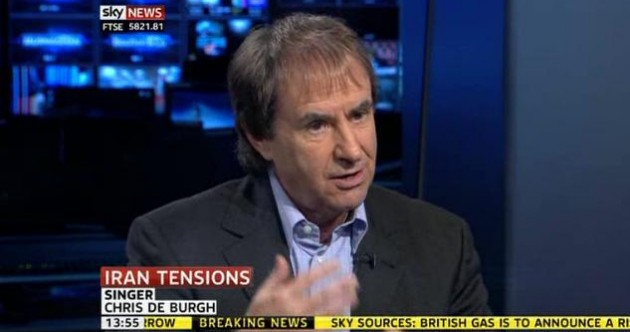 QUICK! Chris de Burgh is on Sky News