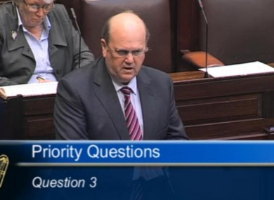 Michael Noonan speaking in the Dáil this evening