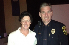 This is Pat Rollins, the police officer who gave Rory McIlroy a lift and helped Europe win the Ryder Cup
