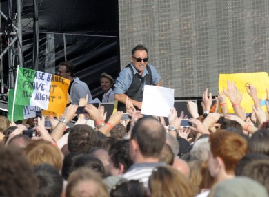 Bruce Springsteen last played in Ireland in July