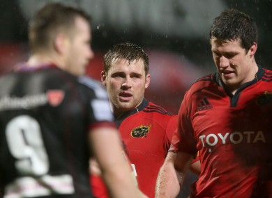 CJ Stander was given a dousing on his Pro12 debut.