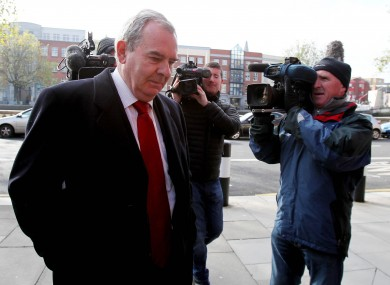 Seán Quinn arriving in court earlier this week.