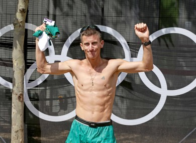 Heffernan finished fourth in the Men's 50km Race Walk earlier this year at the Olympics.