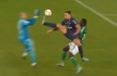VIDEO: Watch Zlatan's karate kick on the St Etienne goalkeeper
