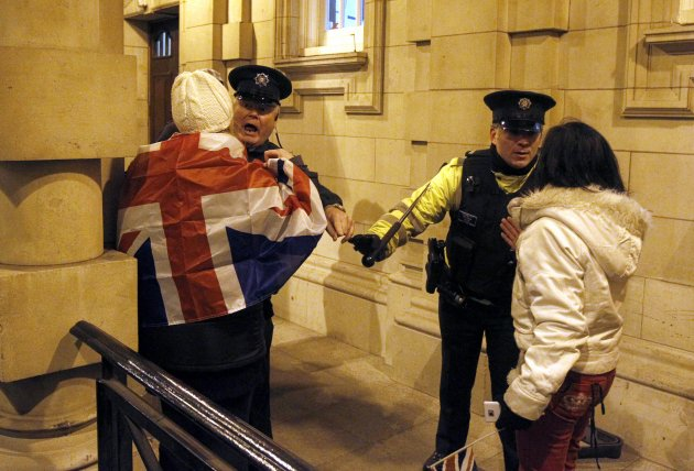 Britain Northern Ireland Flag Protest
