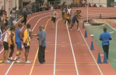 VIDEO: Track brawl breaks out during high school relay race