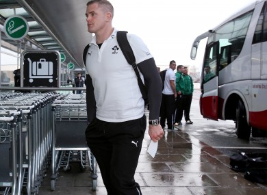 Heaslip at Dublin airport yesterday.