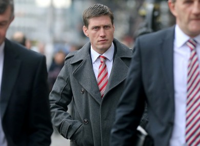 Munster's Ronan O'Gara arrives for this evening's ERC Disciplinary Hearing.