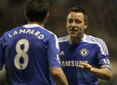 Terry (right) and Lampard.