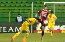 VIDEO: Bulgarian player takes a boot to the mouth, loses 5 teeth