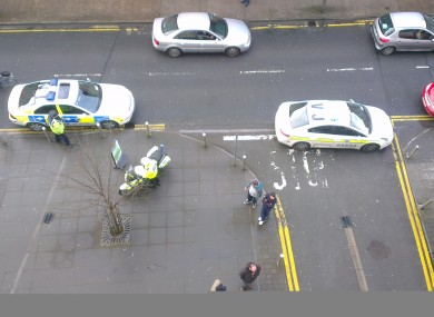 A reader's photo shows Gardaí blocking access to Hill Grove Lane while the suspicious device was removed.