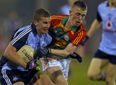 Dublin's Ciaran Kilkenny in action tonight.