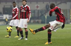 Mario Balotelli scored a brilliant free-kick last night to make it 4 goals in 3 games for AC Milan